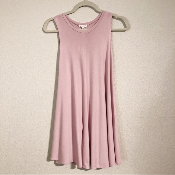 4b8c68052b70 Silence + Noise   Dusty Pink mini Swing Dress. M_5bd5594cfe51519eab0c903d